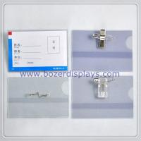 Buy cheap Clear Work Permit/ID Card Holder/Badge Holder With Clip from wholesalers