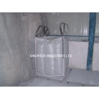 Quality Sift-proofing 4-Panel baffle bag , Industrial 1 Tonne Bulk Bags with filler cords for sale