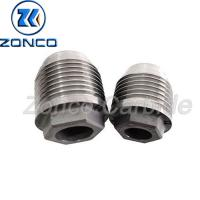 China Hexagonal Threaded Nozzle Tungsten Carbide Power Tool Parts Customized on sale