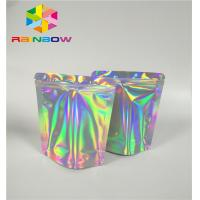 Buy cheap Mylar Hologram Zipper Customized Paper Bags For Eyelash Glue Cosmetics Products from wholesalers