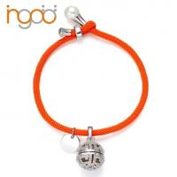 Buy cheap Hot Sale Fragrance Milan Rope Bracelet with White  Gold Plated  Charm with CZ from wholesalers