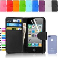 Buy cheap Luxury Flip Wallet Leather Iphone 4 4s Protective Cases With Card Slots from wholesalers