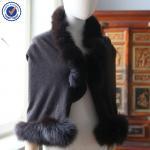 Buy cheap Custom Print Fox Fur Cashmere Shawl Wrap YRPC03 from wholesalers