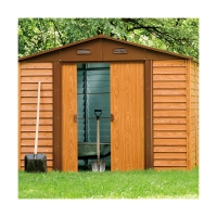 Buy cheap Outdoor Metal Garden Tool Shed Wood Color 5X6ft 6x8ft 8x9ft 12x11ft from wholesalers