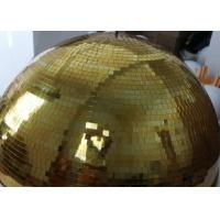 Buy cheap 120CM Golden Mirror Ball Disco Stage Lights Customize Color Crystal Magic Rotating Ball from wholesalers