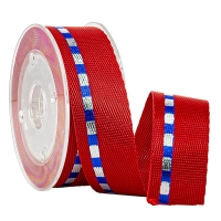 Buy cheap Sports Shoes Accessories Foil Silver & Blue Gold 19 MM Nylon Woven Tape from wholesalers