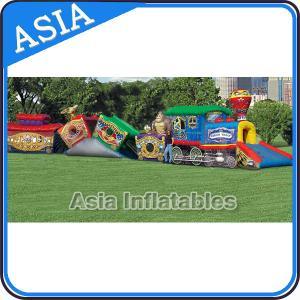 China PVC tarpaulin inflatable circus train fun city High Durability on sale