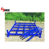 Buy cheap 3  Layer Foldable Tire Rack Blue Powder Coating Loading Capacity 1000kg from wholesalers