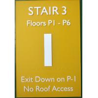 Buy cheap 12X18 Acrylic ADA Stair Signs Straight Edge With OEM Service from wholesalers