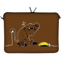 Wholesale Brown Designer Neoprene Laptop Sleeve Case for Students 28.5cm x 21.5cm x 3.0cm from china suppliers