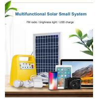 Buy cheap 12V DC Home Solar Power System Solar Power Generator Solar Power Kits 10W with MP3 player FM Radio from wholesalers