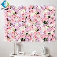 Wholesale Wedding Use Artificial Vertical Garden , Indoor Stereoscopic Silk Flower Wall from china suppliers