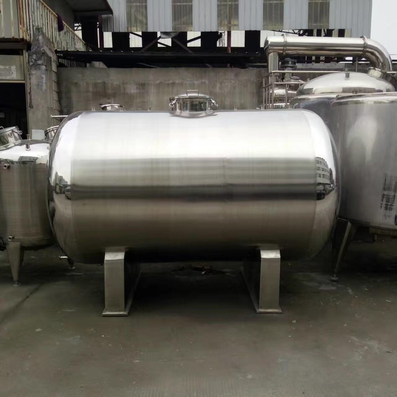 20000L Big Volume Horizontal Type 304 Stainless steel Storage Tank For Milk Palm Oil Etc Liquid Manufactures