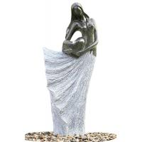 Wholesale Classical Black Marble Statue Water Fountains In Fiberglass Material from china suppliers