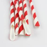 Buy cheap Decorative Party Paper Straws Customized Logo Juice Beverage Paper Drinking Straws from wholesalers