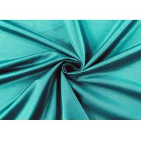 Buy cheap Flexible 84% Nylon Spandex Fabric For Swimwear Peacock Green Color 210GSM from wholesalers