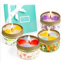 Buy cheap Customized Logo Home Scented Candles Home Fragrance Candles Luxury Four Piece Gift Set from wholesalers