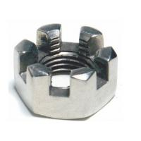 Buy cheap Slotted Hexagon Lock Nut Wear Resistant With Metric Coarse And Fine Thread from wholesalers