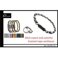 Buy cheap Germanium Titanium Magnetic Braided Rope Necklace for Reducing Inflammation from wholesalers