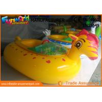 Buy cheap Adult Electric Inflatable Boat Toys , Animal Shape Motorized Inflatable Bumper Boats from wholesalers