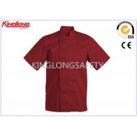 Buy cheap Fashion Comfortable Polyester Cotton Chef Cook Uniform Red Chef Jacket from wholesalers