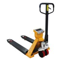 Buy cheap 2T Hand Pallet Truck Scales Wear Resistant With Hydraulic Drum Lifter from wholesalers