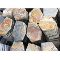 Wholesale Rusty Yellow Slate Stepping Stones For Flooring , Outdoor Garden Slate Stones from china suppliers
