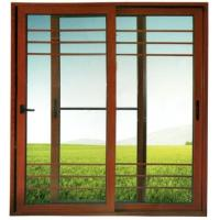 High quality aluminum sliding door three rail series with screen net optional Manufactures