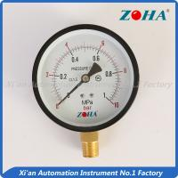 Buy cheap Double Scale Pressure Gauge Bottom Connection With Snap In Plastic Lens 100mm from wholesalers