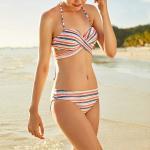 Buy cheap 2019 New Hot Selling Custom Bikini Women Two Pieces swimwear Beachwear beachwear for women Sexy Swimsuit stripe style from wholesalers