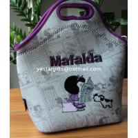 Wholesale 4.5mm Food Standard Neoprene Lunch Tote With Flocking Pattern For Chrildren from china suppliers