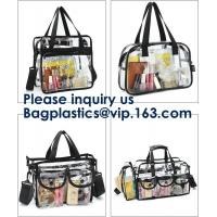 Buy cheap Clear PVC Bag With Zipper Interior Pouch And Detachable Shoulder Strap,Cosmetic Tote Bags With Zipper Closure, bagease from wholesalers