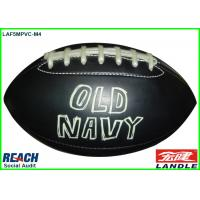 Buy cheap Personalised Black Cool Rugby Ball With Logo Printed For Promotion from wholesalers