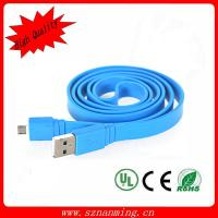 Buy cheap flat noodle micro USB cable for mobile phone from wholesalers
