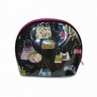 Buy cheap Semicircular Upstanding PVC Cosmetic Bag, Easy to Carry from wholesalers