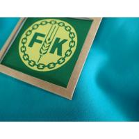 Buy cheap 300 x 300mm Custom Clothing Patches Woven Label With Hanger Loop For Outdoor Garment from wholesalers