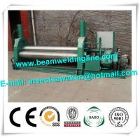 3 Roller Hydraulic Symmetrical Plate Rolling Machine For Shipbuilding / Petroleum Manufactures
