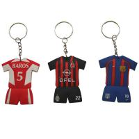 Buy cheap Multicolored Embossed Unique Silicone Keychains, Logo Customized Key Chains For Gift from wholesalers
