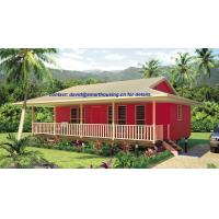 Buy cheap Moistureproof Home Beach Bungalows , Fireproof Wooden House Bungalow from wholesalers