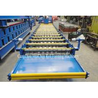 Buy cheap 18 Rows Metal Roof Roll Forming Machine Cr12 1.00mm Precision 8600*1450*1510mm from wholesalers