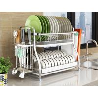 Buy cheap Dish Drainer Drying Stainless Steel Storage Racks On Wheels With Cutlery Holder And Cup Holder from wholesalers