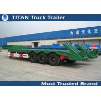 Buy cheap 3 Axles Low Bed Trailer heavy duty equipment for tracked vehicles , wheel  loaders from wholesalers