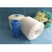 Buy cheap Raw White Garment Sewing 100 Spun Polyester Yarn 20s - 80s Dyeable from wholesalers