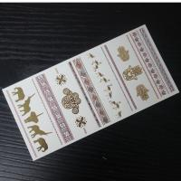 Buy cheap wholesale gold tattoo sticker jewelry chain ring sticker from wholesalers