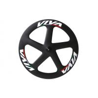 Buy cheap 700c * 23mm Track Bike Wheel Set , 5 Spoke Track Carbon Disc Wheel Fixed Gear from wholesalers