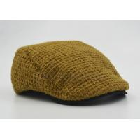 Buy cheap Customized Ladies / Women Peaked Duckbill Hat Ginger With Cotton Lining 56 cm from wholesalers