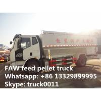 China hot sale FAW  LHD 180hp 20m3  poultry feed pellet truck, factory direct sale FAW  8tons-12tons bulk feed truck on sale