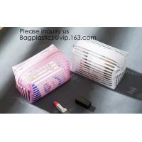 Buy cheap Clear Zipper Pouch with Strap Makeup Bag PVC Cosmetic Pouch,Printing Clear Ziplock Cosmetic PVC Pouch, bagease, bagplast from wholesalers