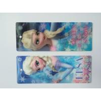 Wholesale 3D Hologram Frozen 3D Lenticular Custom Plastic Bookmarks With Tassel For 0.6 mm PET Thickness from china suppliers