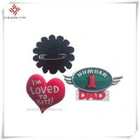 Buy cheap Accept Customized beautiful design and logo handmade badges for clothes from wholesalers